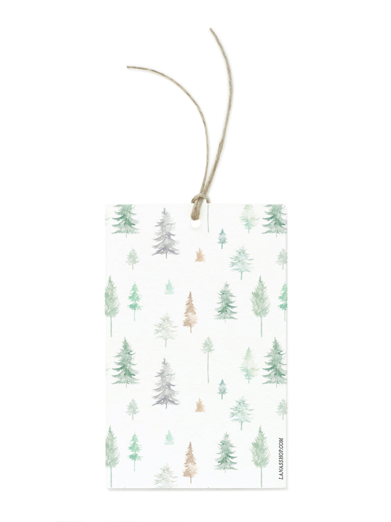 Peaceful Forest in Green Gift Tag