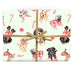 Mint Christmas Puppy Dog Gift Wrap