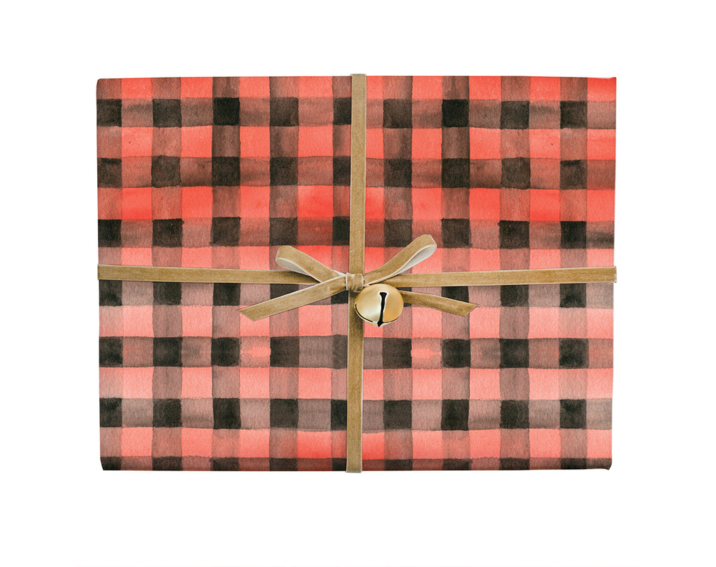 Red Gingham Gift Wrap