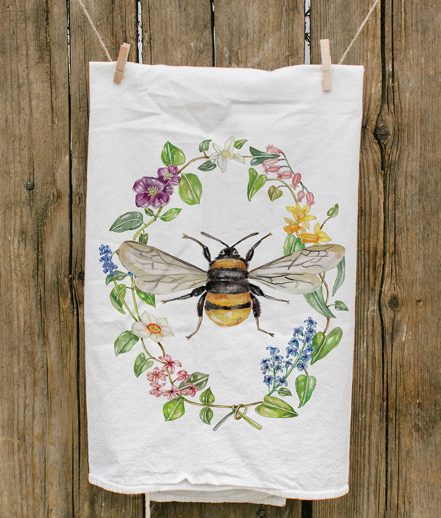 Botanic Bee Tea Towel