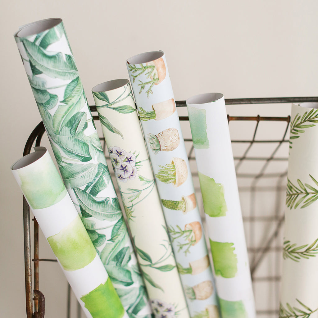Green Watercolor Gift Wrap