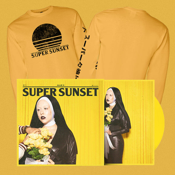 SUPER SUNSET SIGNED VINYL / T-SHIRT BUNDLE