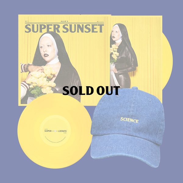 SUPER SUNSET SIGNED VINYL + SCIENCE DAD HAT