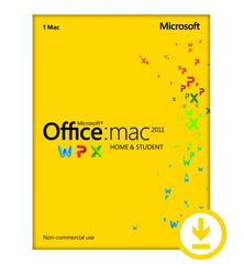 Microsoft Office for MAC Home and Student 2011 - Retail download - MyChoiceSoftware.com - 2