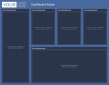 Tableau Template - Blue - 12 Layouts