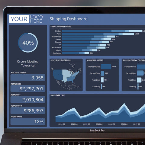 Tableau Template - Blue