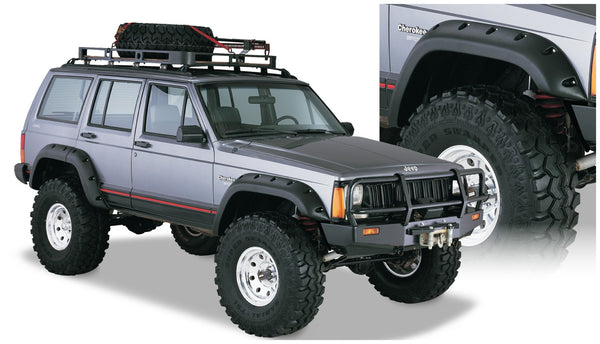 Bushwacker  10911-07 Fender Flares  Front & Rear Sets Cut-Out Style Image 1 GarageMAD4X4