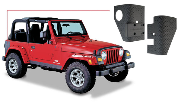 Bushwacker  14001 Corner Guard Set  Rear Set Fits Pocket Style, Fits Extend-a-Fender Style Image 1 GarageMAD4X4