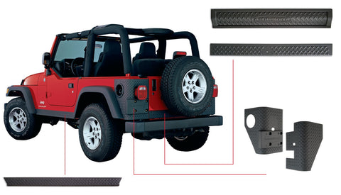 Bushwacker  14902 Corner Guard & Sill Plate Guard Kit  Side Set DiamondBack Style Image 1 GarageMAD4X4