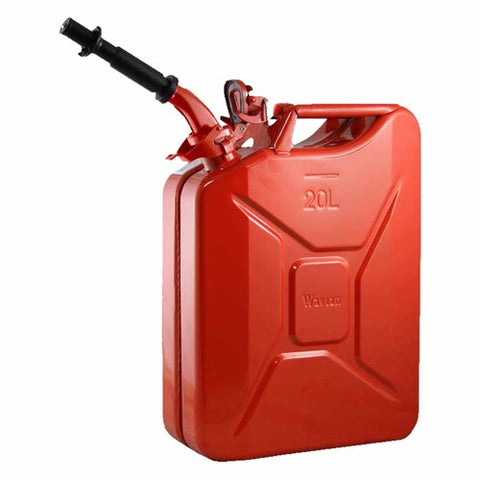 Wavian 20L Steel Jerry Can Gloss Red JC0020RVS  Garage MAD4X4