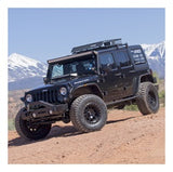 Aries - TrailCrusher Steel Bumper w/ Bull Bar Jeep Sideview - 2186000 - MAD4X4