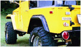 Bushwacker  30002-07 Fender Flares  Rear Set Cut-Out Style Image 5 GarageMAD4X4