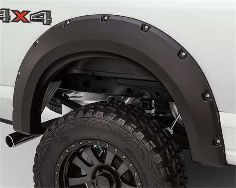 Bushwacker  40090-02 Fender Flares  Rear Set Max Coverage Pocket Style Image 1 GarageMAD4X4