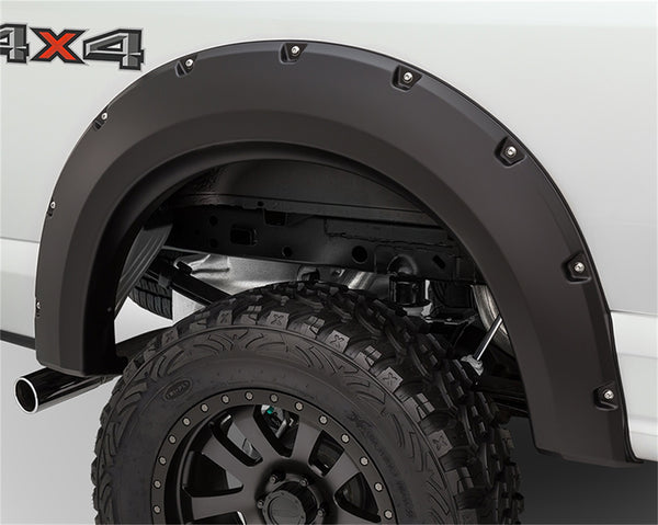 Bushwacker  40098-02 Fender Flares  Rear Set Max Coverage Pocket Style Image 1 GarageMAD4X4