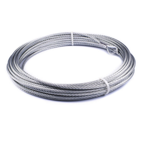 Image of WARN Galvanized Steel Rope 3/8in.  94 Feet - 86515