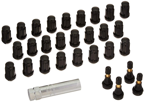 Pro Comp - Black Chrome Lug Nuts w/ Valve Stems - Garage MAD4X4