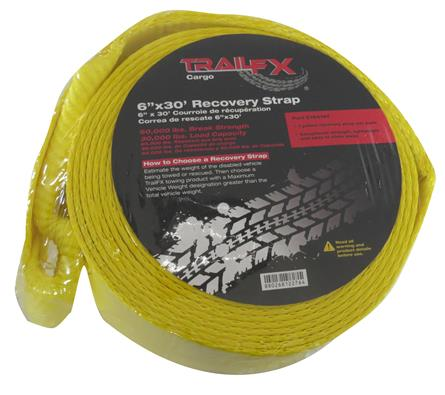 TrailFX 30 foot Recovery Strap 30,000lb Rating - C16019Y GarageMAD4X4