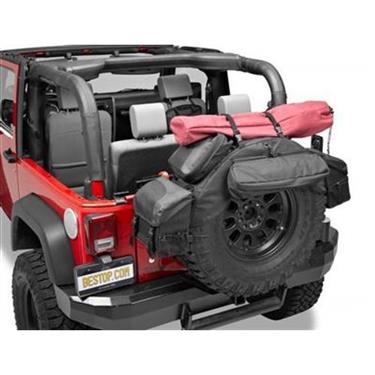 Bestop - Roughrider 30-33in Spare Tire Organizer - Garage MAD4X4