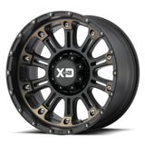 KMC WHEELS - Hoss 2 17x9 Satin black machined w/ dark tint - XD82979080912N