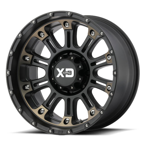 KMC WHEELS - Hoss 2 20x9 Satin black machined w/ dark tint - XD82929087900