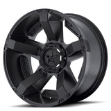KMC WHEELS - Rockstar 2 Matte black w/ accents - Garage MAD4X4