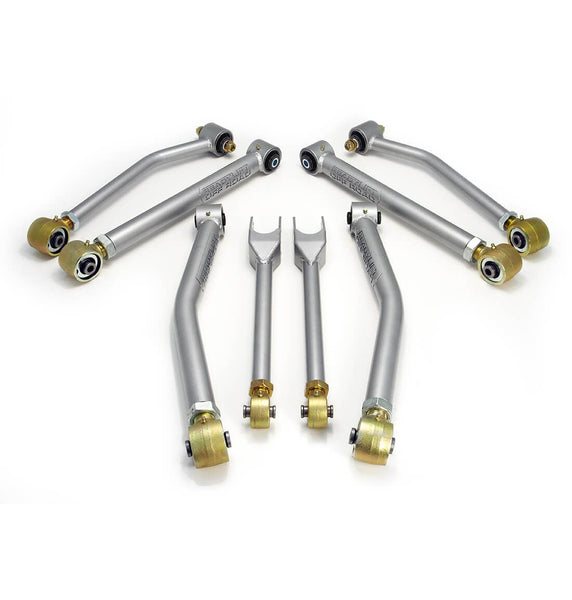 Readylift Super Flex 8 Adjustable Control Arm Kit with Currie Joints Jeep Wrangler JK 44-6110 GarageMAD4X4