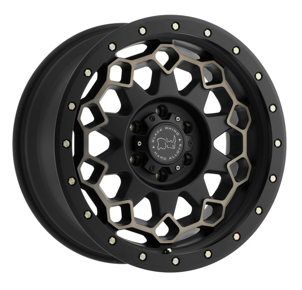 BLACK RHINO WHEELS – Diamante Matte Black Machined – Garage MAD4X4