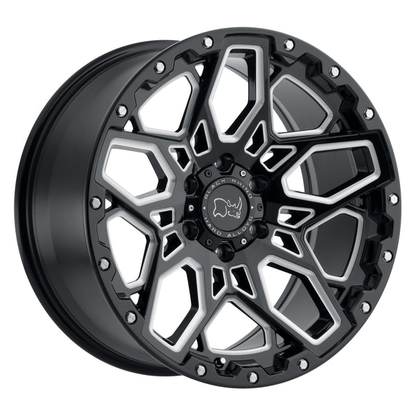 BLACK RHINO WHEELS – Shrapnel Black Milled – Garage MAD4X4