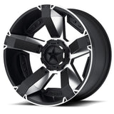 KMC WHEELS - Rockstar 2 Matte black machined w/ accents - Garage MAD4X4