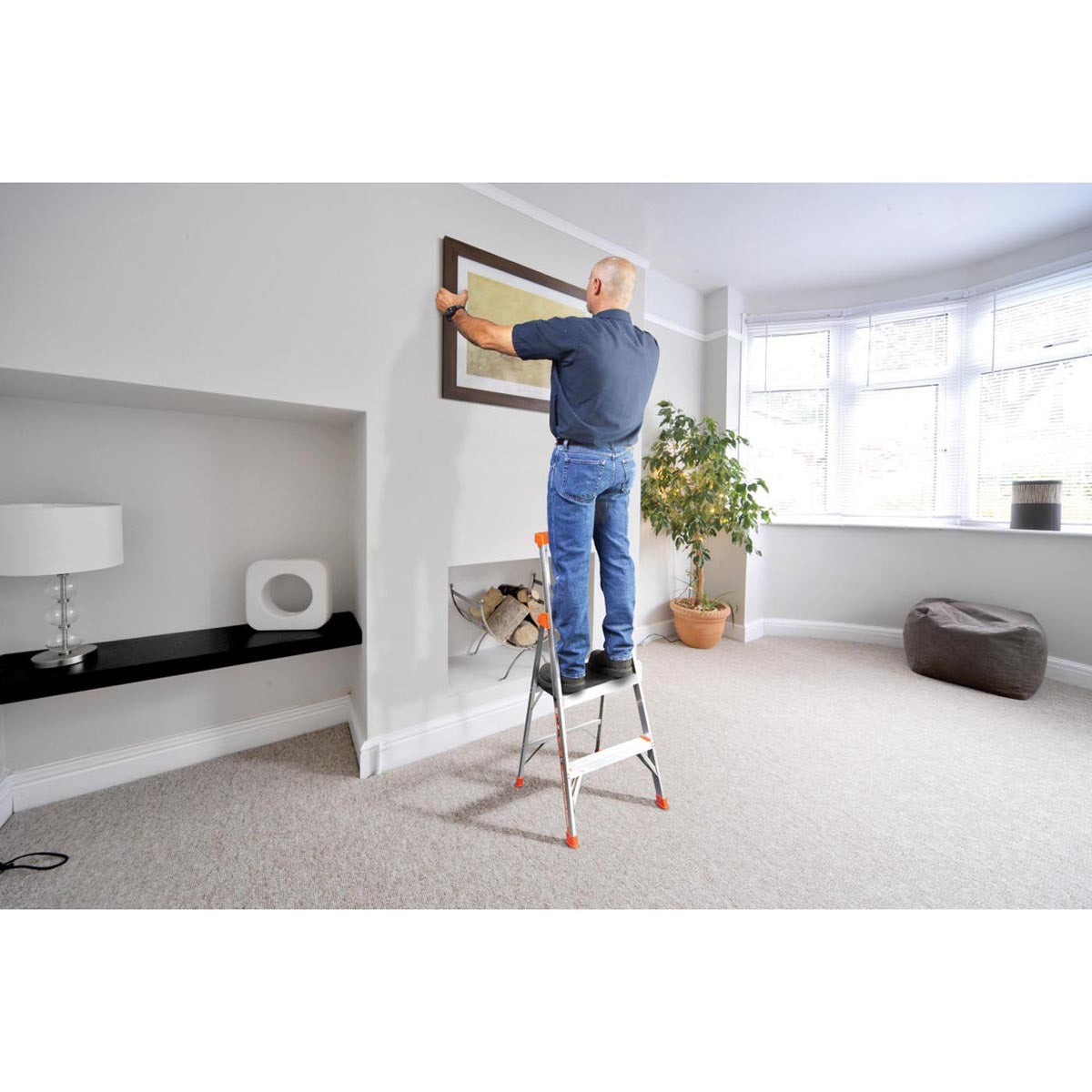 The vast majority of ladder accidents are caused by two things: using the wrong ladder for the job and over-reaching. We designed the Little Giant Dark Horse to help you avoid these common problems. The Dark Horse is the only Fiberglass multi-use ladder on the market.