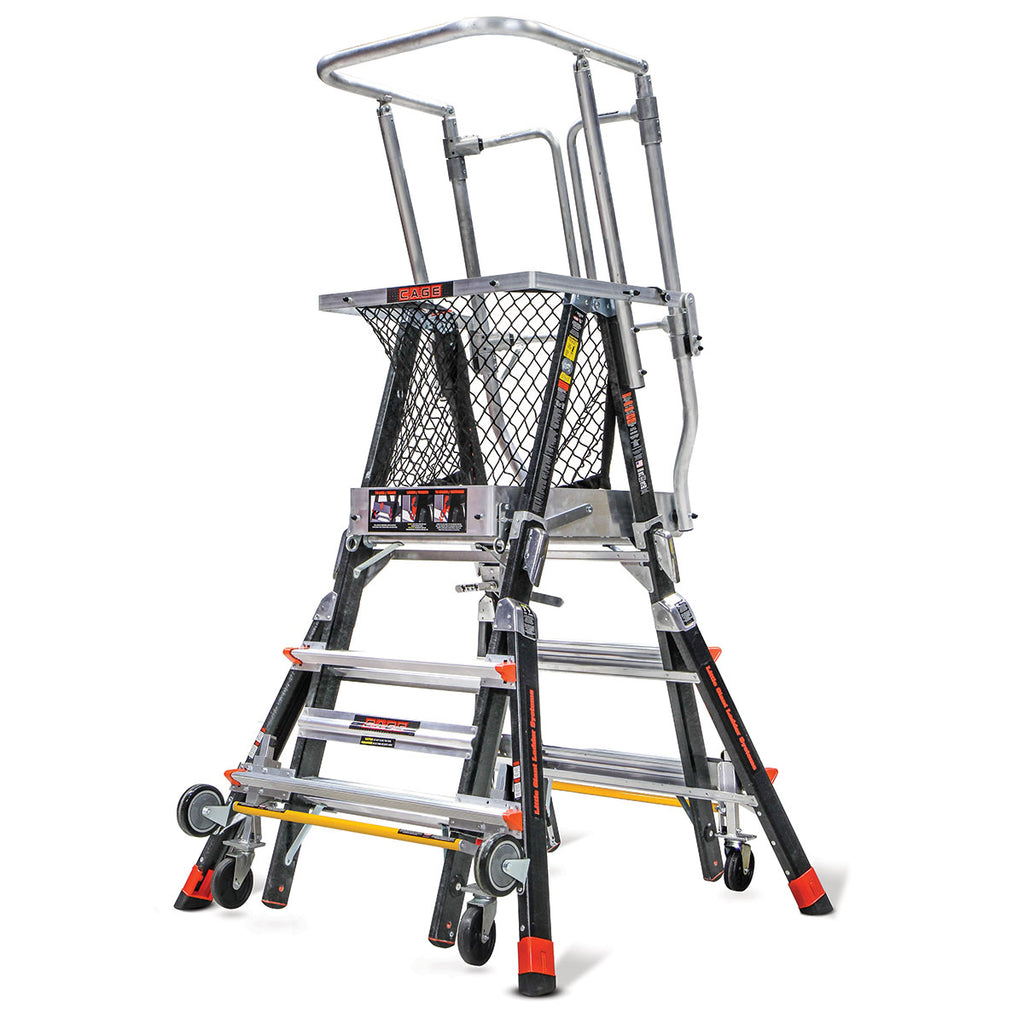 Little Giant Adjustable Safety Cage Ladder Type 1aa