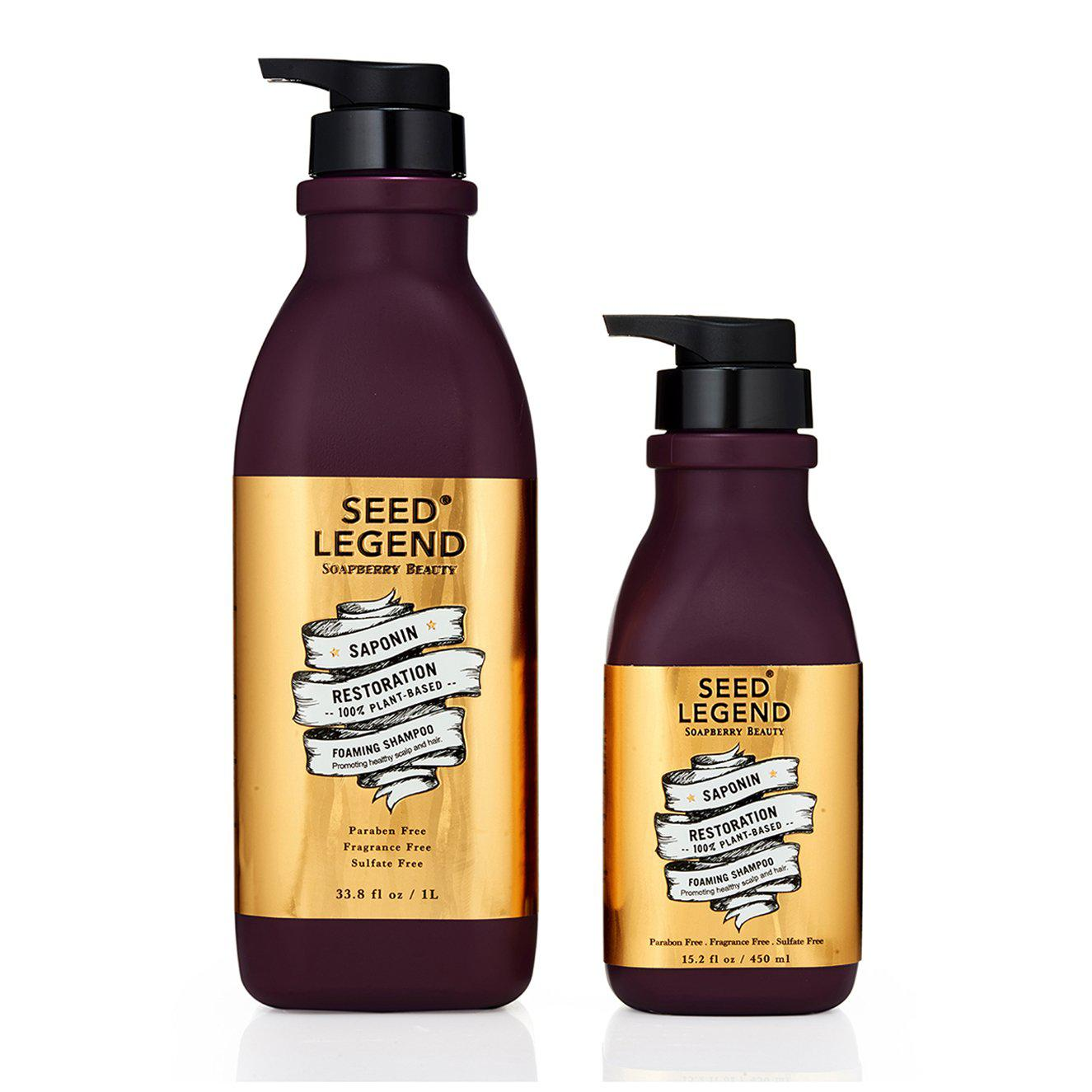 Soapberry Foaming Shampoo - Scalp Detox and Hair Growth - Seed Legend