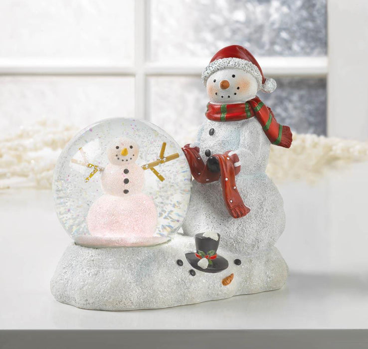 Snowman LED Snow Globe - UNQFurniture