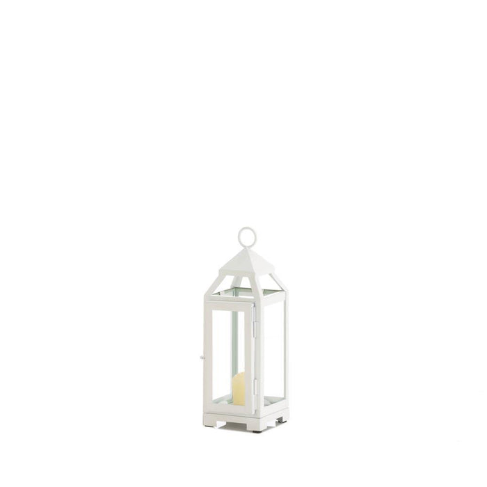 Mini Country White Open Top Lantern - UNQFurniture