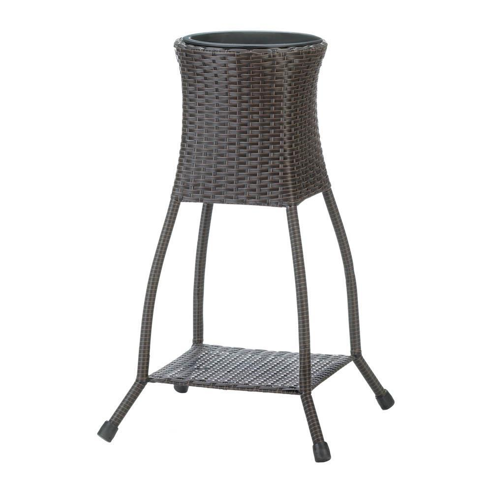 Tuscany Wicker Plant Stand - UNQFurniture