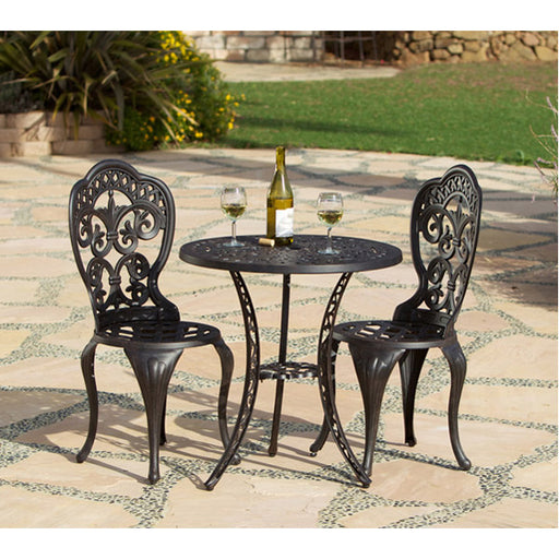 Fiesta Outdoor Aluminum 3 Piece Bistro Set