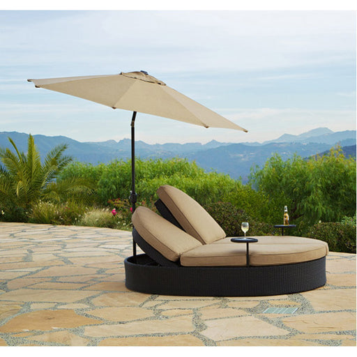 Solara Outdoor Double Chaise with Umbrella