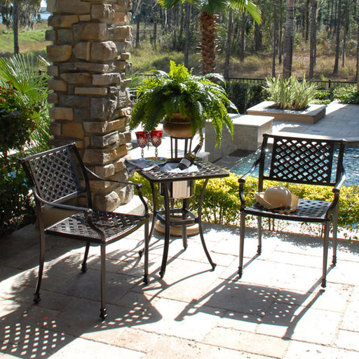 Savannah Outdoor Aluminum 3 Piece Bistro Set
