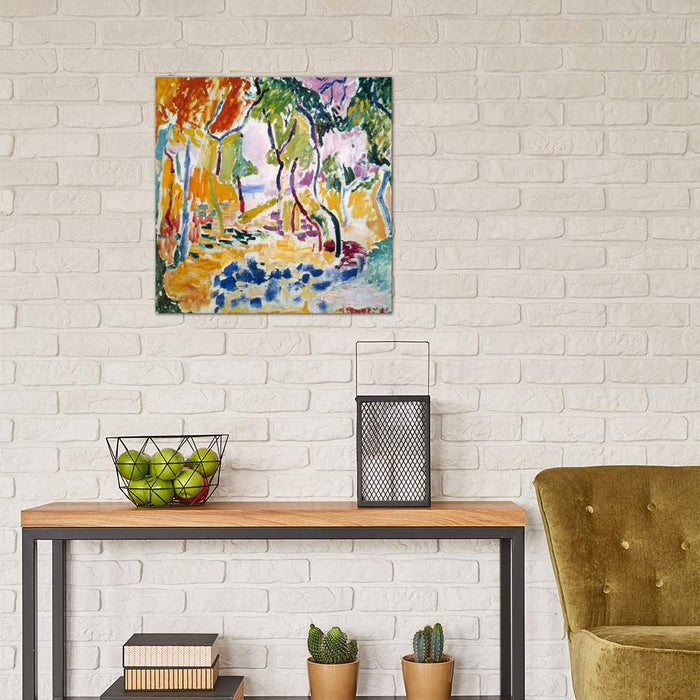 Landscape near Collioure (Study for Le Bonheur de Vivre), 19 by Henri Matisse Canvas Print - UNQFurniture
