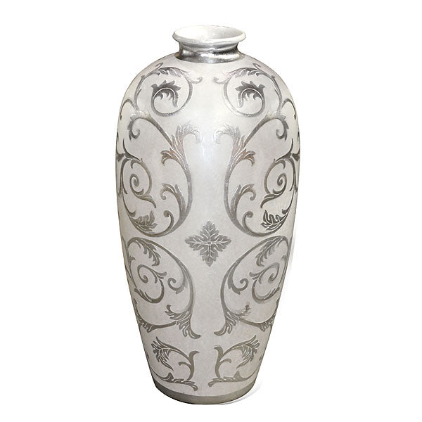 Sophie Silver Large Vase - UNQFurniture