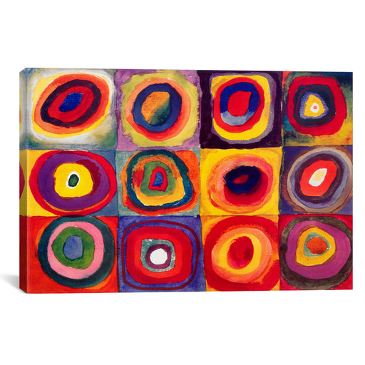 Squares with Concentric Circles by Wassily Kandinsky Canvas Print - UNQFurniture