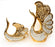 Opalescent Swan Vase    Set of 2