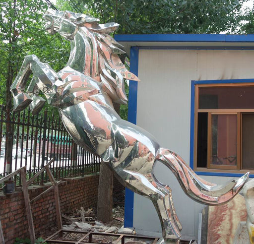 Stallion Sculpture Stainless Steel