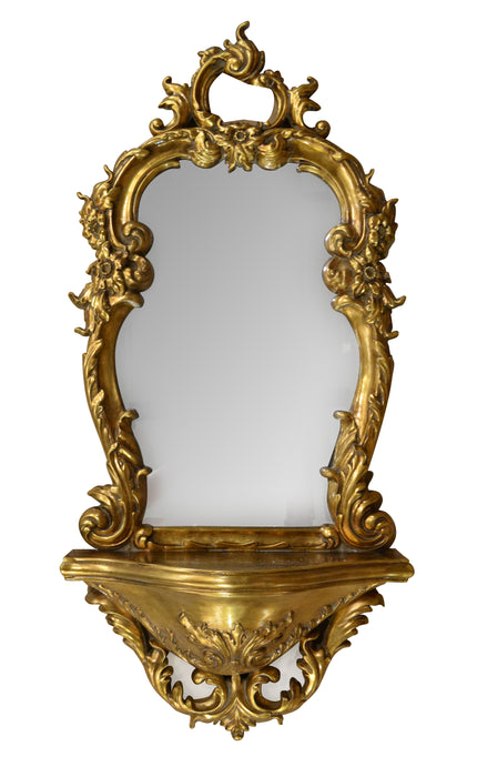 Roccoco Gilt Mirror Shelf