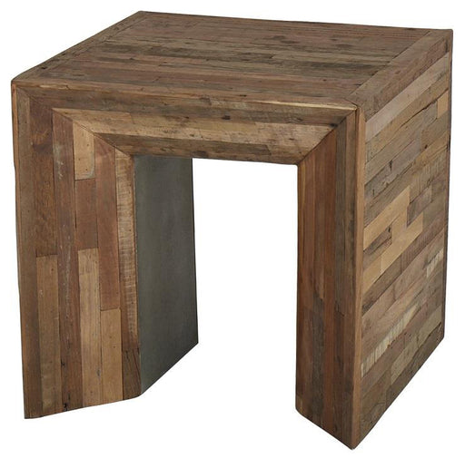 Arcadian Wood Massive  Side Table