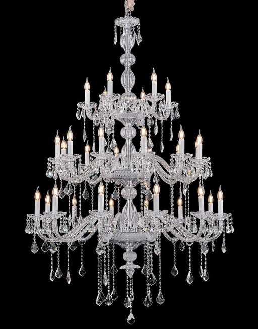 Sapphire Maria Theresa Chandelier Three Tiers