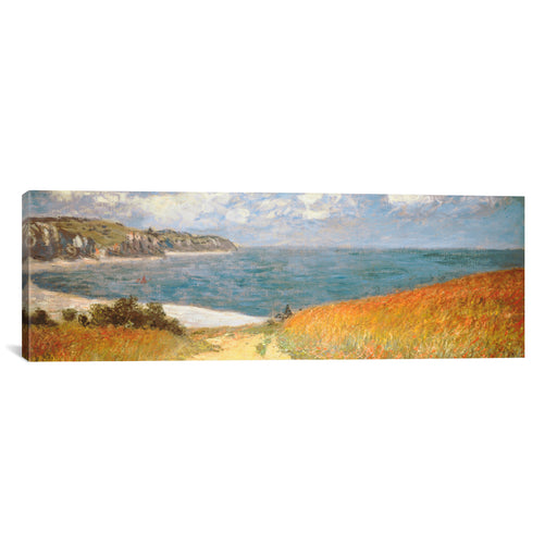 Path Through The Corn At Pourville by Claude Monet Canvas Print - UNQFurniture