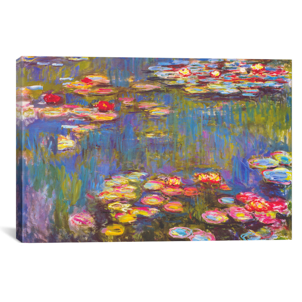 Water Lilies, 1916 by Claude Monet Canvas Print - UNQFurniture
