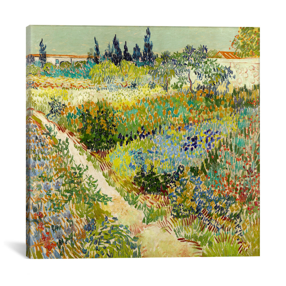 The Garden at Arles by Vincent van Gogh Canvas Print - UNQFurniture