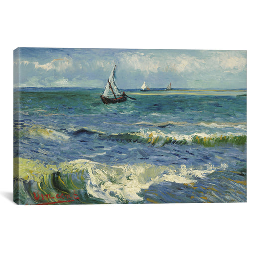 Seascape Near Les Saintes Maries de la Mer by Vincent van Gogh Canvas Print - UNQFurniture